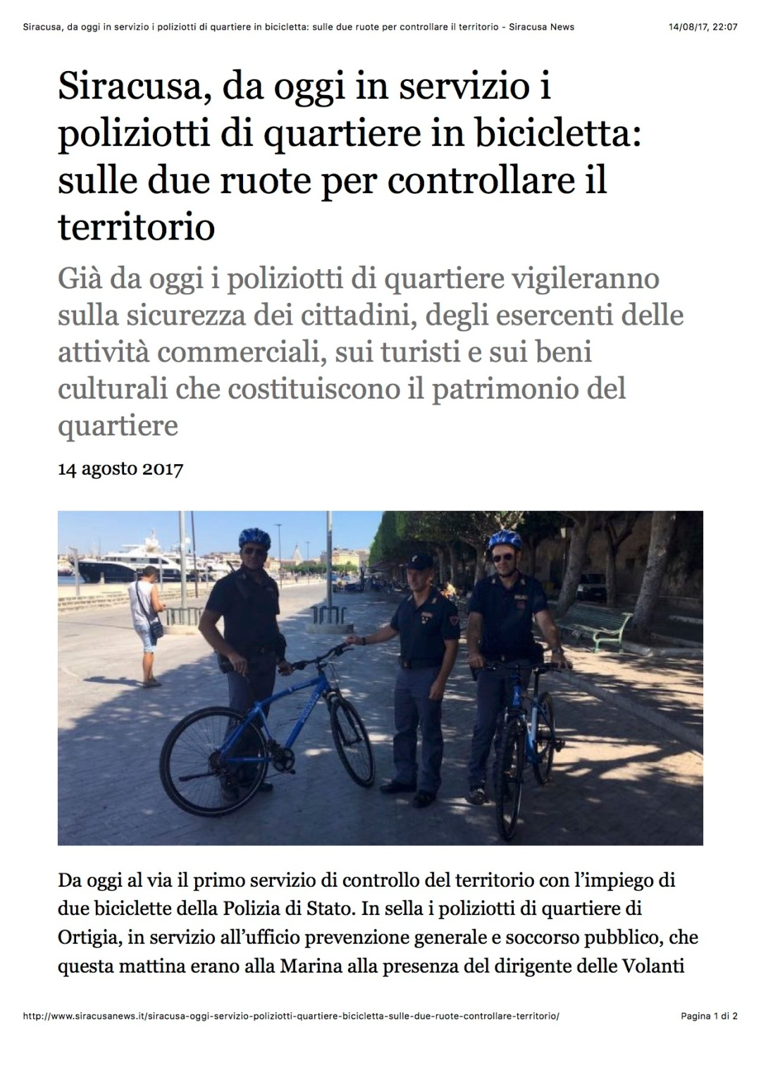 2017-08-14 Consegna Bici PS Ortigia