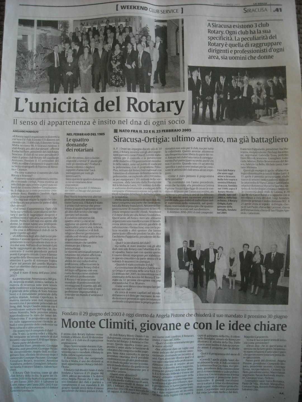 articolo rotary aprile 2011