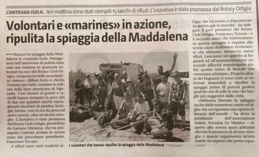 Ripulita la Spiaggia della Maddalena
